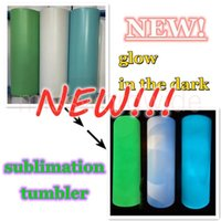 sublimation STRAIGHT tumbler blank glow in the dark tumbler 20oz with Luminous paint Luminescent staliness steel tumblers magic travel cup FY4467 MS25