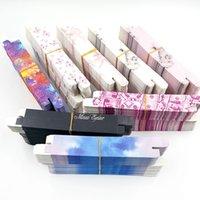 Marble pattern glittered soft rectangular box for self-adhesive waterproof eyeliner pen eyebrow brush case eyeliner pen bag 140*16*17mm