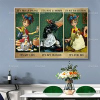 Paintings Not A Phase It'S My Life Passion Vintage Poster, Gift For Dog Lovers,Dog Grooming Salon Home Decor Canvas Wall Art Prints