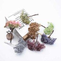 6 peças plástico stamen casa decoração acessórios Natal decorativo flores grinaldas casamento acessórios nupciais liberação p0828