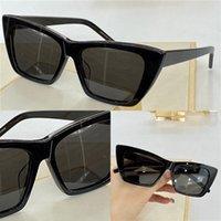 276 Lunettes de soleil à la mode Summer Cat Style Gradient Gradient Lens UV 400 Protection pour femmes Vintage Square Plank Cadre Top Qualité Viens avec étui Classic Eyeglasse