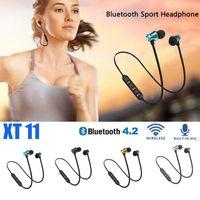 XT11 Wireless Bluetooth Headphones Magnetic Fitness Running Sport Earphones Headset BT 4.2 with Mic MP3 Earbud Men Wonen