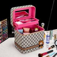 Saco cosmético pano vara urso caixa de armazenamento portátil viagens simples grande e tamanho pequeno