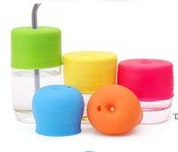 새로운 실리콘 Sippy 뚜껑 어떤 크기의 어린이 머그컵에 대한 니플 뚜껑 유아 및 유아용 유아용 누출 컵 HHD7225
