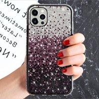 Gradient Color Rhinestone Diamond Creative Creative CalledPhone Case для iPhone 12 11 Pro Max XR XS MAX 6 7 8 PLUS Защитный чехол для задней крышки