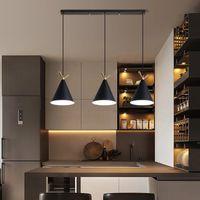 Nordic 3 головы подвесной лампы минималистский нависший подвесной люстр света для столовой кухонный остров спальня дома светильники R416