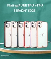Protective Clear TPU cell Phone Cases for iPhone 12 Pro Max 11 xr 7plus 8 6s Soft Transparent Plating Thin Back Cover Case