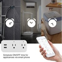 Cell Phone Mounts & Holders Smart WiFi Power Socket Plug Switch For Amazon Alexa Google Home App Control US Mobile Control, Physical Switch,