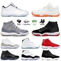 NikeAirJordanRetro11Jordans11sJumpmanAJ ayakkabı 25th Anniversary low Basketbol ayakkabıları Concord Bred Space Jam Cap Gamma Blue erkekler Sneaker Trainers