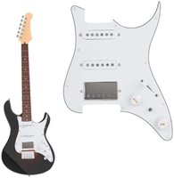Guitar Pickups AlNiCo 5 Pickups Humbucker HSS Style Prewired Pickguard For Strat guitar- 3-ply White