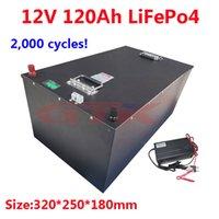 GTK 12.8V Lifepo4 12V 120AH lithium battery BMS 4S for inverter Boats motorhome UPS Go Cart Solar energy storage +10A Charger