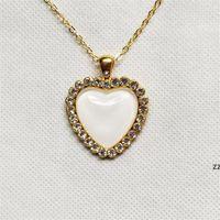 НОВЫЙ! Сублимационные старинные хрустальные ожерелье в день Святого Валентина творческий подарок сердца формы ожерелье романтический стиль женщины любят крутящий момент мода H