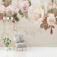 Modern American Pastoral Rose Wall Wallpaper Mural Dining Room Living TV Background Home Decor Art Poster Fresco Wallpapers