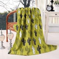 """WAP одеяло флис одеяло фланелевой флис кушетка одеяло 50 """"x60"""" ультра мягкая теплый желтый черный saguaro кактус"""