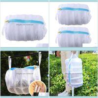 Clothing Racks Housekeeping Organization & Gardenshoes Hanging Dry Mesh Laundry Bags Home Using Clothes Washing Net Bag Shoes Protect Wash1