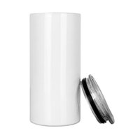 Großhandel Sublimation 15 Unzen Leere Tumbler Cups Wirtschaftliche Edelstahl Skinny Tumblers Wasserflaschen Für Kinder Kaffee Auto Tassen Reisen Becher