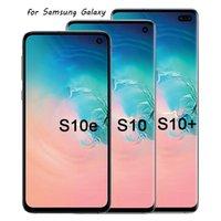 Panneaux oamoyés à 100% de Cadre à 100% pour Samsung Galaxy S10 S10 + S10E LCD Affichage G9730 G9750 G9700 Pièces de rechange en gros