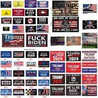 DHL Shipping! 180 desenhos fábrica direta 3x5 ft 90 * 150 cm Vamos GO brandon salvar a América novamente Trump Flag para 2024 Presidente Eleição U.S. Stock