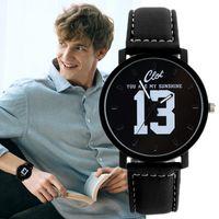 2020 Uhr Herren Große Zifferblatt Retro Stil Persönlichkeit Einfache Ledergürtel Männer Uhren Quarz Uhr Liebhaber Uhr Relogio Masculino