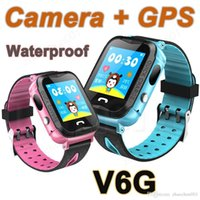 New arrival Waterproof GPS SmartWatch V6G with Camera Flashlight SOS Call Location Touch Screen Anti-Lost Monitor Tracker PK Q90