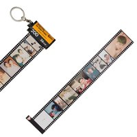 Vintage Custom Pictures Memory Film Keychain Diy Photo Text Albums Cover Keyring for Best Friend Bag Mobile Phone Accessories H0915