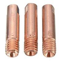 صنابير المطبخ 10 قطع ميغابايت MB-15AK M6 ميغ / ماج لحام الشعلة الاتصال تلميح فوهة الغاز 0.8 / 1.0 / 1.2mm