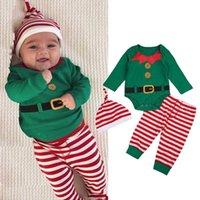Clothing Sets Baby Boy Clothes Girl Autumn Christmas Xmas Set Toddler Romper Pant Hat Outfits Meisje Pour Enfants