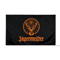 Fabrik Direkter Großhandel doppelt genäht 3x5FTs 90 * 150 cm schwarz jagermeister flagge lebensflagge für dekoration ewd5679