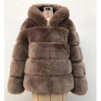 Women's Fur & Faux 2021 Winter Thick Warm Coat Women Plus Size Hooded Long Sleeve Jacket Luxury Coats Bontjas