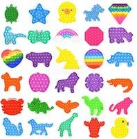 I giocattoli dei giocattoli Push Push Bubble Sensory Autism Special Needs Stress Reliever It Squeeze Giocattolo sensoriale per bambini Famiglia DHL Consegna DHL Misshow FY4381