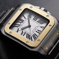 2020 Limited quantity Car Sans series W200728G wrist mens watch automatic movement white face 316L steel original strap watch men