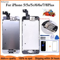 LCD Full Assembly For iPhone 5 5C 5S SE 6 7 8 Plus Touch Glass Display LCD Digitizer Replacement+Front Camera+Ear Speaker