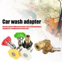 Car Washer 5pcs Pressure Tips 1 4 Inch Quick Connector With 5-Angle Pivot Coupler Installation For Watering Flowers Cars