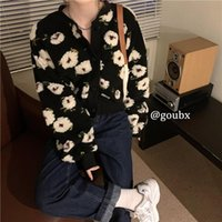Woman Ropa Mujer Loose Long Sleeve Short Coat Korean Fashion Outwear Sweet 3D Floral Jackets For Women Winter Clothes Women's