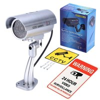 Cameras 1 Set Waterproof Fake Dummy Camera LED Flashing Light 24 Hour And CCTV Warning Stickers Video Surveillance Security System