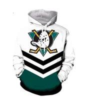 T-shirts Hommes Fashion The Mighty Ducks Sweat à capuche Drôle Hockey Haut Movie Casque Coton Coton