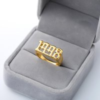 Cluster Rings Number 1999 1996 1997 Man Ring Custom Stainless Steel Pendant Gold Sliver Anillo