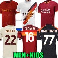 Erwachsene Kinder 18 19 20 21 22 Totti Roma Home Away Fussball Jersey 2018 2019 2020 2021 Pastore Rom Dzeko Zaniolo El Shaarawy als Fußballhemden