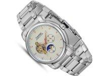 Мужские часы, простое, автоматическое движение, большой циферблат, стальной ремешок, сплавый корпус, армированный стекло, мода, элегантность, романтика, ночной свет, но