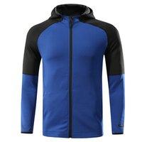 Nuevos hombres corriendo chaquetas cremallera ropa deportiva con chaquetas de trotar bolsillo gimnasio con capucha gimnasia entrenamiento fitness de fútbol ropaje de entrenamiento