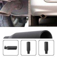 Auto Edelstahl hochwertiger schwarzer schräges Auspuffrohr Ende schräges Auspuffrohr End Universal für Autos