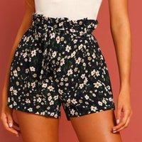 Летние шорты Мода Леди Большой Размер Повседневная Пляж Свободные Печать Короткие Брюки Одежда Шифон Юбки 2021 Женщины