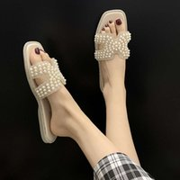 sandal Cool slippers for women's wear 2019 summer ins super hot pearl diamond h trawl