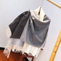 Gradiente Scarf Designers Classic letra longa xaile mulheres macio lã de seda caxemira lenços com alta qualtiy