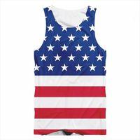 Fashion American Flag Tank Summer Mens Tops 3d Print Sleeveless Vest Hip Hop Men Casual Streetwear Lovers Tanks