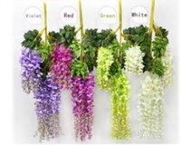 7 Colors Elegant Artificial Silk Flower Wisteria Flower Vine Rattan For Home Garden Party Wedding Decoration 110cm Available