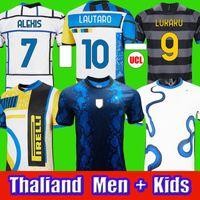 camiseta de fútbol 2021 Inter de Milán VIDAL ERIKSEN LUKAKU LAUTARO ALEXIS SKRINIAR BARELLA camisetas de fútbol 20 21 uniformes hombres + kit para niños