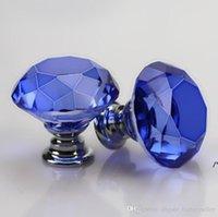 30mm Diamond Crystal Glass Door Knobs Drawer Cabinet Furniture Handle Knob Screw Furniture Accessories NHF10717
