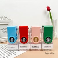 Limited Edition 290ML Starbucks Genuine Mugs Valentine's Day Cherry Blossom Pink Cute Rotating Straw Cup With Canvas Ba