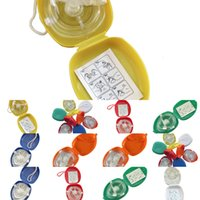 أحادي الاتجاه قناع الإنعاش CPR الإنقاذ مع 10pcs / lot جيب صمام التنفس للأول التدريب المعنيات معدات الطوارئ multipw9p 5sk8x